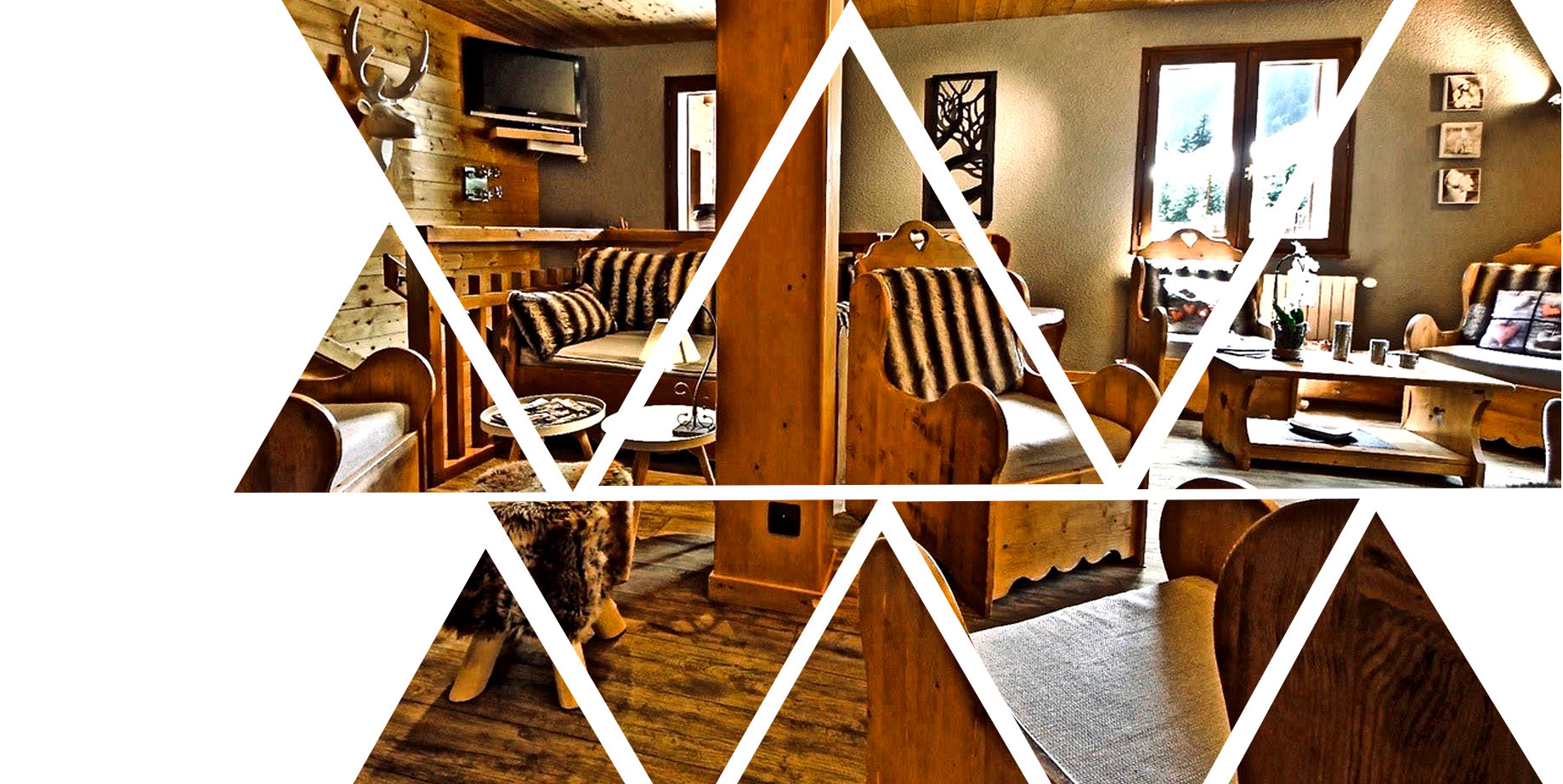 photo du salon de l'hôtel avec fond sur polygone