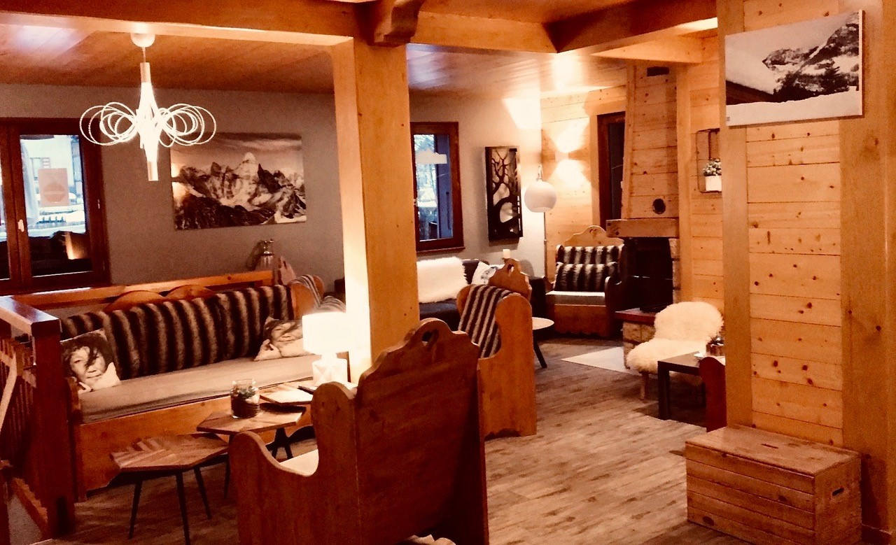 Le salon à l'ambiance cosy du Vermont
