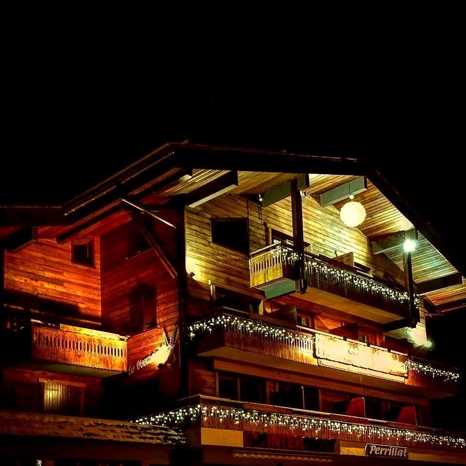 L'hôtel du Vermont en soirée